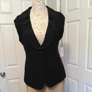 CAbi Black Dinner Vest with ruffle - NWT - Black 8